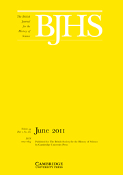 The British Journal for the History of Science Volume 44 - Issue 2 -