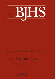 The British Journal for the History of Science Volume 45 - Issue 3 -  Special Issue: Transnational History of Science