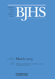 The British Journal for the History of Science Volume 46 - Issue 1 -