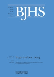 The British Journal for the History of Science Volume 46 - Issue 3 -