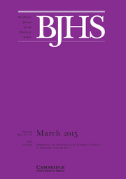 The British Journal for the History of Science Volume 48 - Issue 1 -