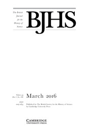 The British Journal for the History of Science Volume 49 - Issue 1 -