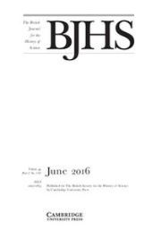 The British Journal for the History of Science Volume 49 - Issue 2 -