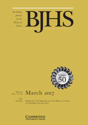 The British Journal for the History of Science Volume 50 - Issue 1 -
