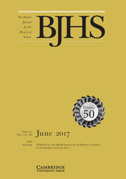 The British Journal for the History of Science Volume 50 - Issue 2 -