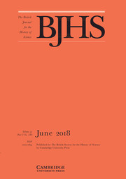 The British Journal for the History of Science Volume 51 - Issue 2 -
