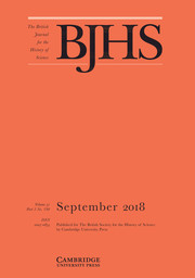The British Journal for the History of Science Volume 51 - Issue 3 -