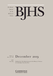The British Journal for the History of Science Volume 52 - Issue 4 -