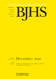 The British Journal for the History of Science Volume 53 - Issue 4 -