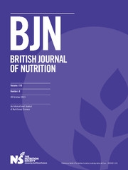 British Journal of Nutrition Volume 110 - Issue 8 -