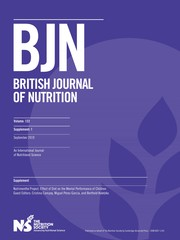 British Journal of Nutrition Volume 122 - Supplements1 -  Nutrimenthe Project: Effect of Diet on the Mental Performance of Children