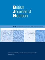 British Journal of Nutrition Volume 98 - Issue 1 -