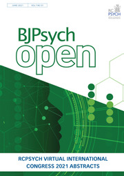 BJPsych Open Volume 7 - SupplementS1 -  Abstracts of the RCPsych Virtual International Congress 2021, 21–24 June
