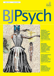 The British Journal of Psychiatry Volume 212 - Issue 4 -