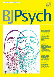 The British Journal of Psychiatry Volume 212 - Issue 6 -