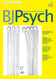 The British Journal of Psychiatry Volume 213 - Issue 5 -