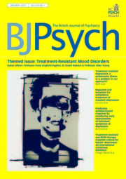 The British Journal of Psychiatry Volume 214 - Issue 1 -  Themed Issue: Treatment-Resistant Mood Disorders