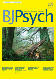 The British Journal of Psychiatry Volume 216 - Issue 5 -