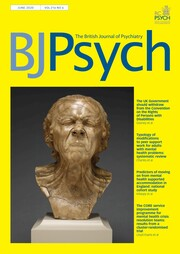 The British Journal of Psychiatry Volume 216 - Issue 6 -