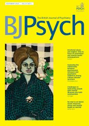 The British Journal of Psychiatry Volume 217 - Issue 5 -