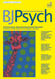 The British Journal of Psychiatry Volume 218 - Issue 1 -