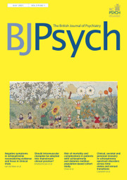 The British Journal of Psychiatry Volume 219 - Issue 1 -