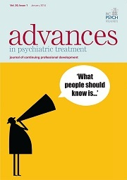 BJPsych Advances Volume 20 - Issue 1 -