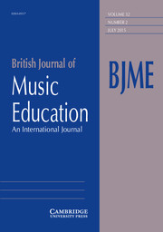 British Journal of Music Education Volume 32 - Issue 2 -