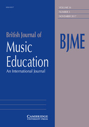 British Journal of Music Education Volume 34 - Issue 3 -