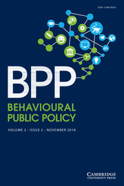 Behavioural Public Policy  Volume 2 - Issue 2 -