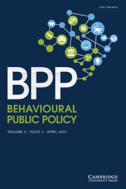 Behavioural Public Policy  Volume 5 - Issue 2 -