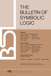 Bulletin of Symbolic Logic Volume 26 - Issue 2 -