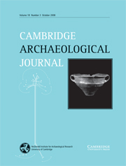 Cambridge Archaeological Journal Volume 18 - Issue 3 -