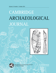 Cambridge Archaeological Journal Volume 20 - Issue 3 -