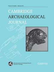 Cambridge Archaeological Journal Volume 26 - Issue 1 -