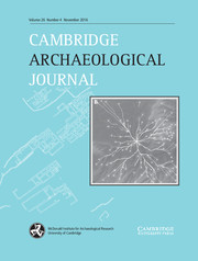 Cambridge Archaeological Journal Volume 26 - Issue 4 -