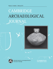 Cambridge Archaeological Journal Volume 27 - Issue 1 -