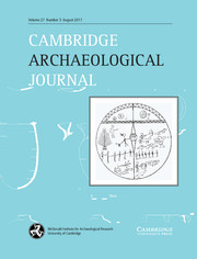 Cambridge Archaeological Journal Volume 27 - Issue 3 -
