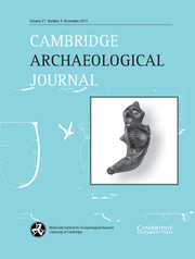 Cambridge Archaeological Journal Volume 27 - Special Issue4 -  Art, Material Culture, Visual Culture, or Something Else