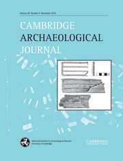 Cambridge Archaeological Journal Volume 28 - Issue 4 -