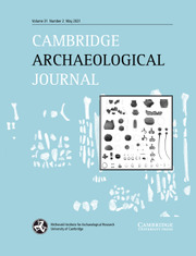 Cambridge Archaeological Journal Volume 31 - Issue 2 -