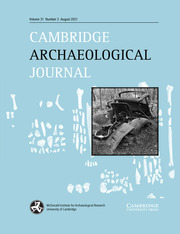 Cambridge Archaeological Journal Volume 31 - Issue 3 -