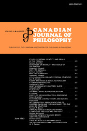 Canadian Journal of Philosophy Volume 12 - Issue 2 -