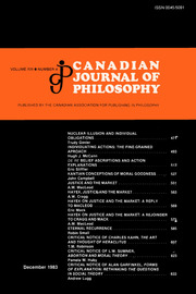 Canadian Journal of Philosophy Volume 13 - Issue 4 -