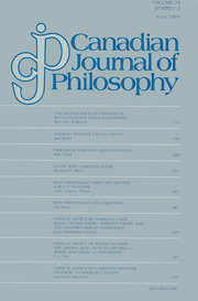 Canadian Journal of Philosophy Volume 24 - Issue 2 -