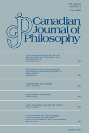 Canadian Journal of Philosophy Volume 33 - Issue 2 -