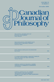 Canadian Journal of Philosophy Volume 35 - Issue 4 -