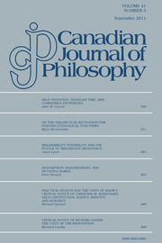 Canadian Journal of Philosophy Volume 41 - Issue 3 -