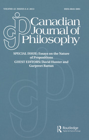 Canadian Journal of Philosophy Volume 43 - Issue 5-6 -  Special issue: Essays on the Nature of Propositions
