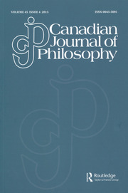 Canadian Journal of Philosophy Volume 45 - Issue 4 -